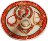 Shreeng Gold Work Marble Thali : Pooja T...
