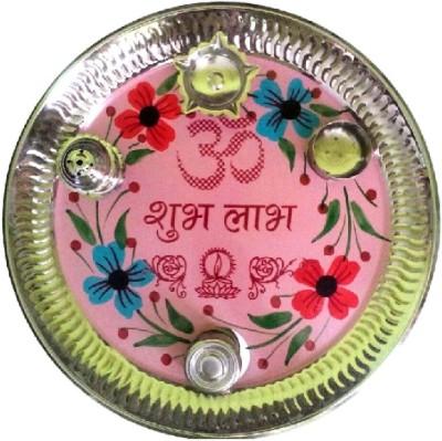 Divine Temples Steel Pooja & Thali Set(1 Pieces, Multicolor)