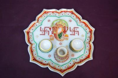 POOJA GHAR Marble Pooja & Thali Set