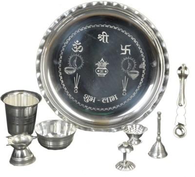 TYS Silver Plated Pooja & Thali Set