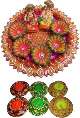 Laviva Earthenware Pooja & Thali Set