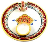 Chitra Handicraft Marble Pooja Thali Mar...