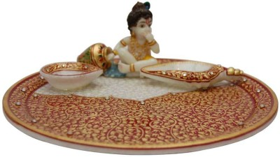 Sanskriti objects Marble Pooja & Thali Set