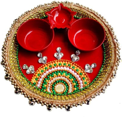 Indian Traditional Stores Steel Pooja & Thali Set