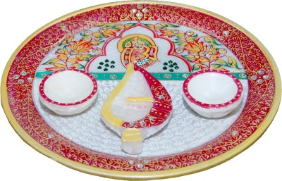 Mne Pooja Thaali Marble Pooja & Thali Set