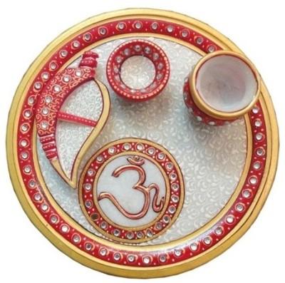 Dharohar The Heritage Marble Pooja & Thali Set