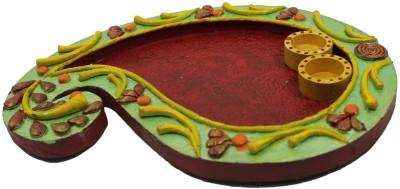 Ravishing Variety Papier Mache Terracotta Pooja & Thali Set