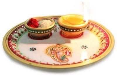 Gifts By Meeta Marble Pooja & Thali Set