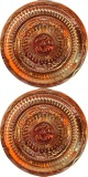 Goldcave Copper Pooja & Thali Set (2 Pie...