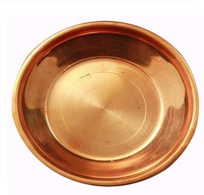 Divine Temples Copper Pooja & Thali Set(1 Pieces, Brown)