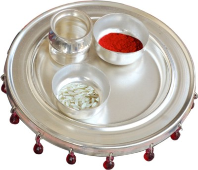 GS Museum 5 inch Nag Silver Plated Pooja & Thali Set