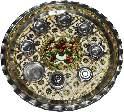 Ooltha Chashma Designer Thali Steel Pooja & Thali Set
