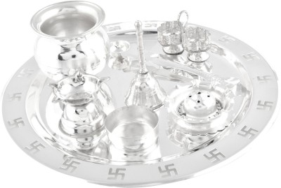 GS Museum Silver Plated Pooja & Thali Set