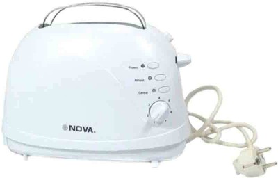 Nova RX-2227T 800 W Pop Up Toaster(White)