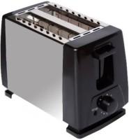 """Wonder World â""""¢ Metallic Auto MS-06Kitchen Essentials 2 Slice 650 W Pop Up Toaster(Black)"""