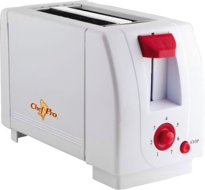 ChefPro Compact Design With 7 Browning Settings 750 W Pop Up Toaster Cpt540 (White)