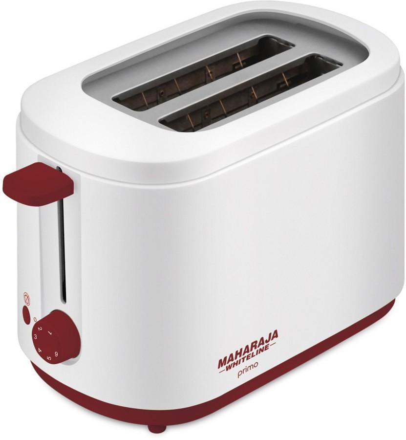 Maharaja Whiteline PRIMO PT-100 750 Pop Up Toaster(White)