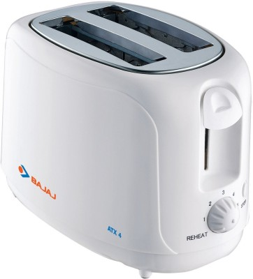 Bajaj ATX 4 750 W Pop Up Toaster(Silver)