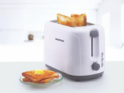 Borosil Krispy BTO750WPW11 2 Slice Pop Up Toaster
