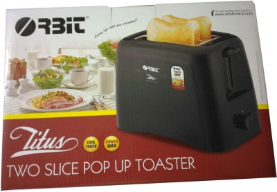 Orbit Titus 800 W Pop Up Toaster(Black)