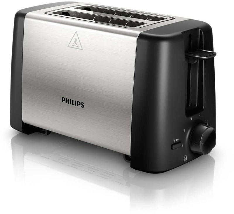 Philips HD4825/91 800 W Pop Up Toaster(Black)