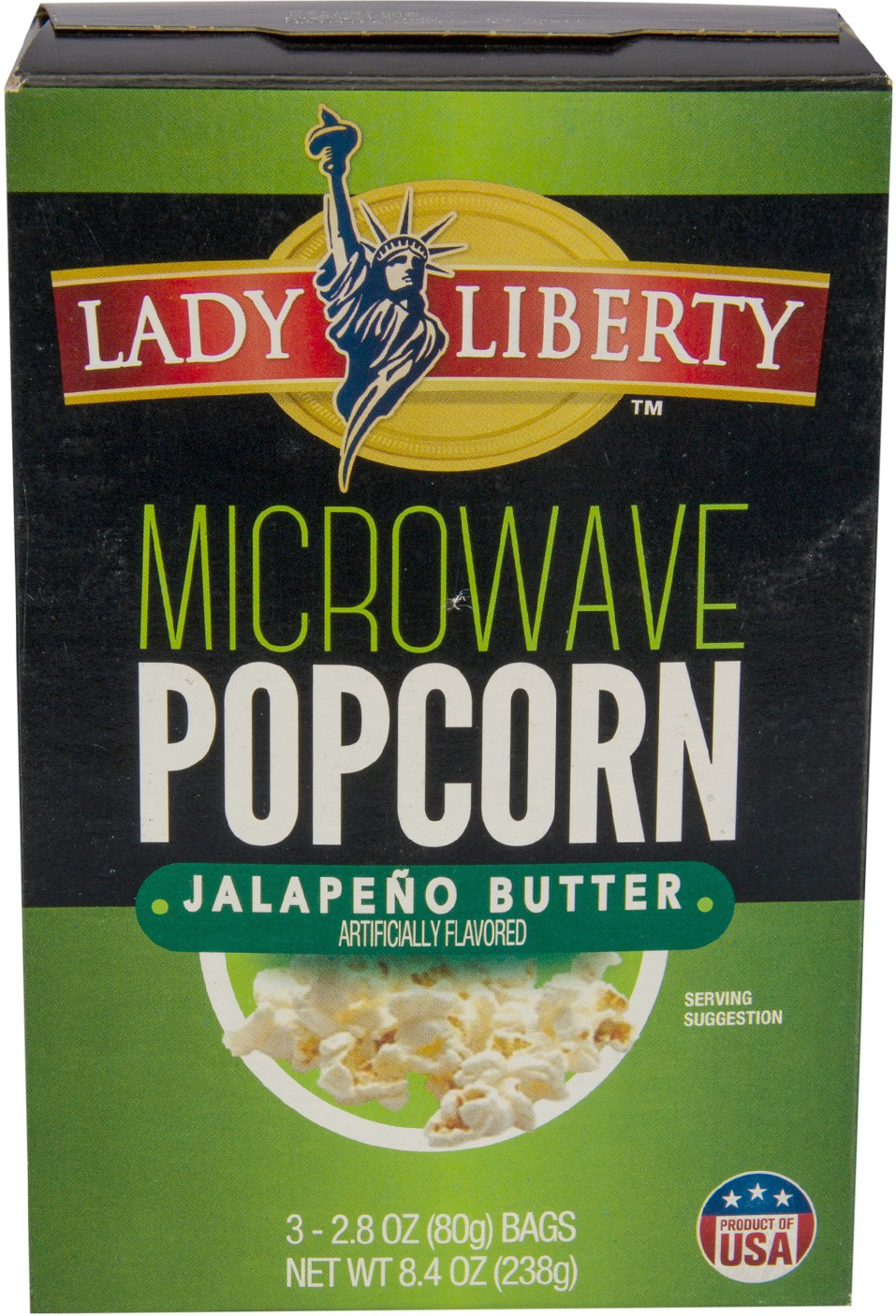 Lady Liberty Microwave Popcorn