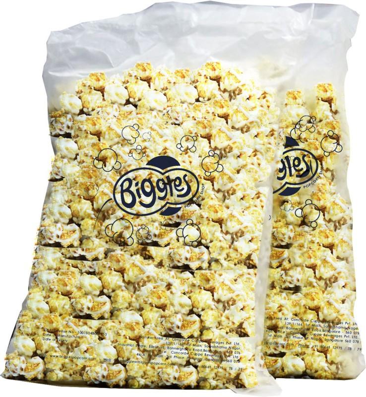 Biggles Caramel Bulk Pack Popcorn(2 kg Pack of 2)