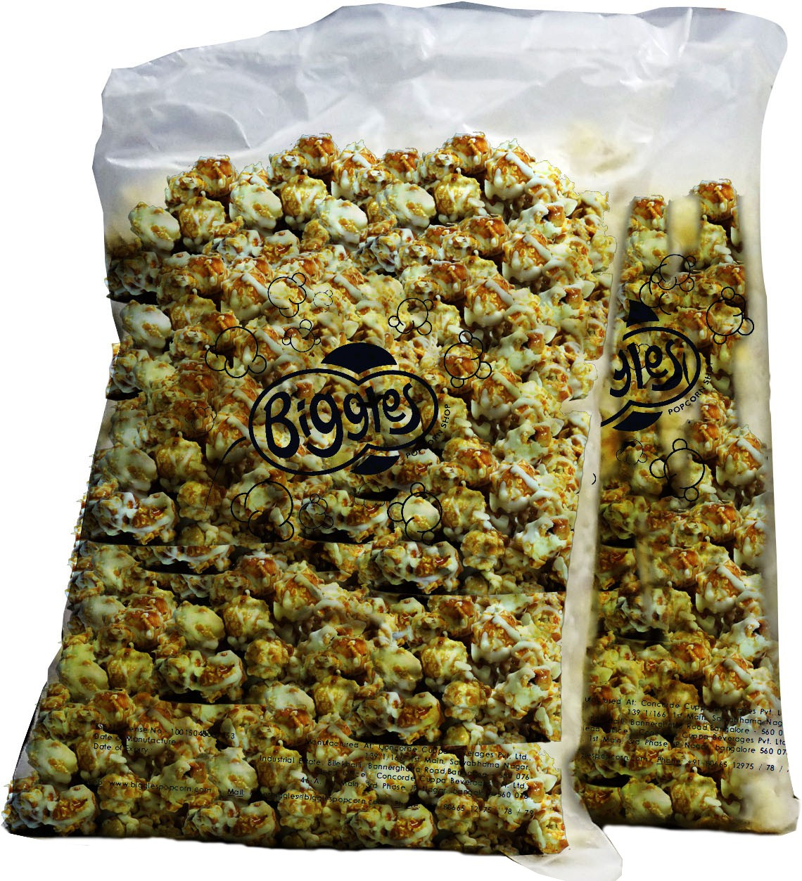Biggles Dark and White Chocolate Bulk Pack Popcorn