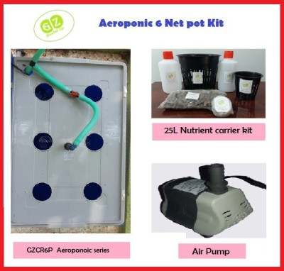 GZ Green Aeroponic 6 Net pot kit Portable Green House