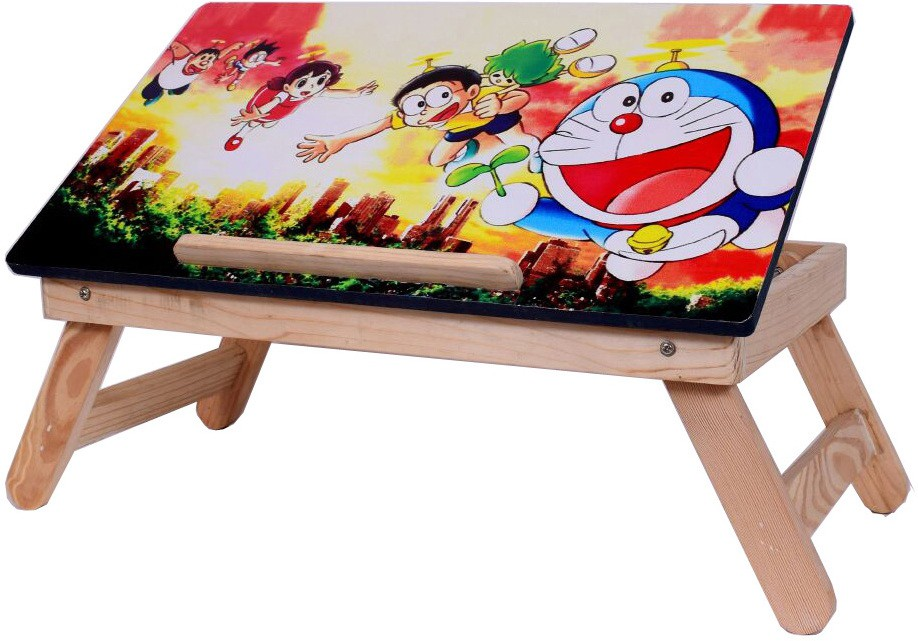 View Cart4Craft cartoon character kids table/bed table/multipurpose table Solid Wood Portable Laptop Table(Finish Color - Multicolor) Furniture (Cart4Craft)