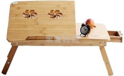 Tablemate Wooden Adjustable Study With USB Cooling Pad Fan Solid Wood Portable Laptop Table