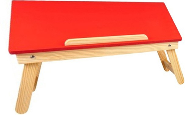 View Cart4Craft matte finish color Solid Wood Portable Laptop Table(Finish Color - Red) Furniture (Cart4Craft)