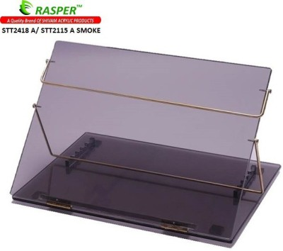Rasper Acrylic Table Top Desk Elevator (STANDARD SIZE, 21x15 Inches) Acrylic Writing Desk Synthetic Fiber Portable Laptop Table