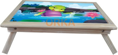 ORKA Purple Turtle Solid Wood Portable Laptop Table