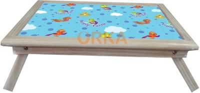 ORKA Purple Turtle Solid Wood Portable Laptop Table(Finish Color - MultiColor)