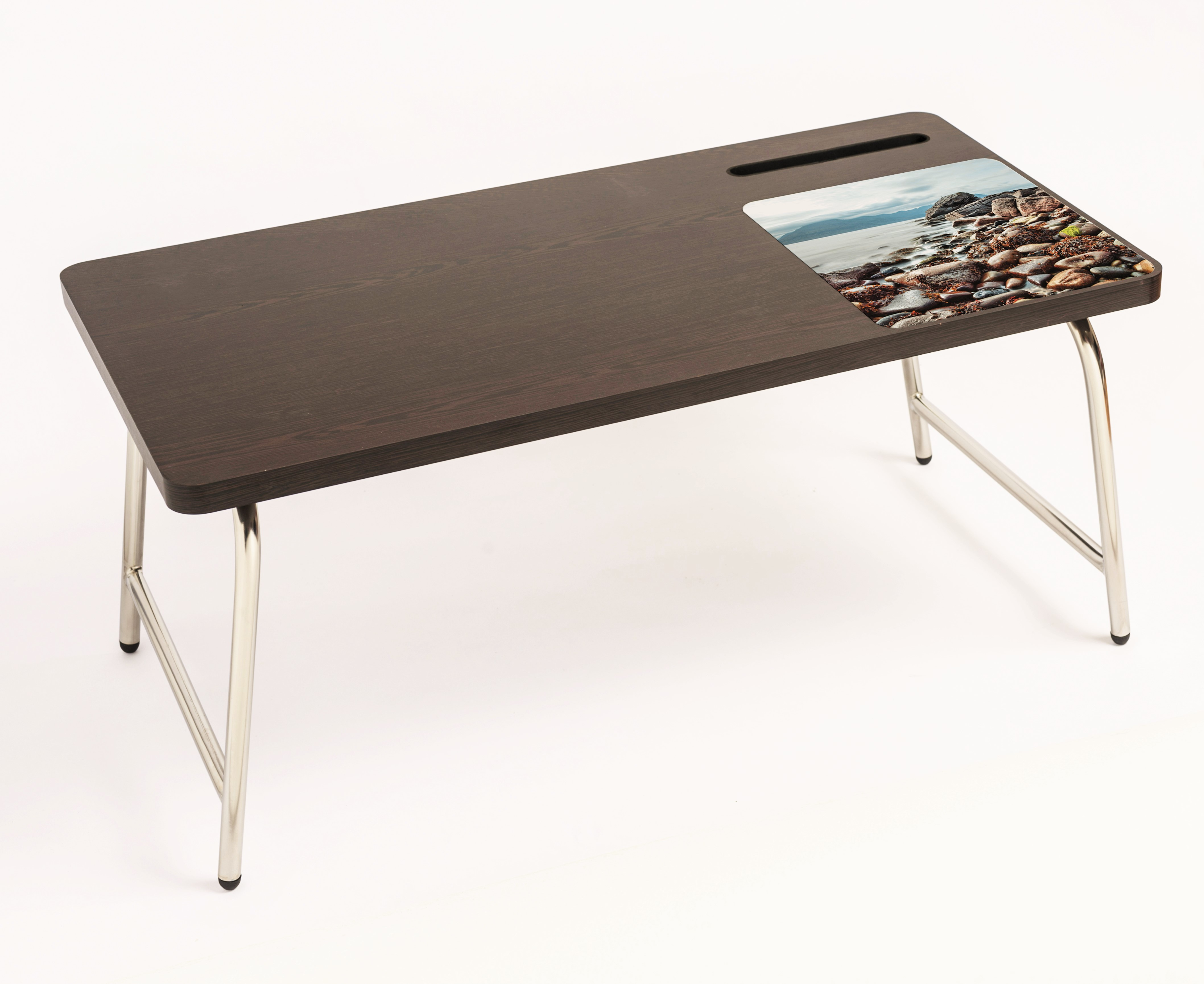 View Bluewud Riodesk Ace Engineered Wood Portable Laptop Table(Finish Color - Wenge) Furniture (Bluewud)