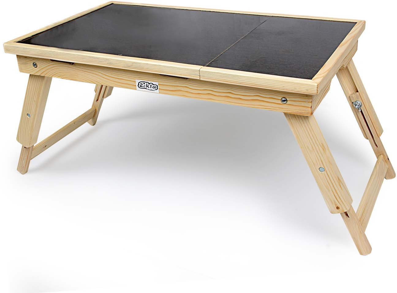 View Ekta Product Solid Wood Portable Laptop Table(Finish Color - Light Oak) Furniture (Ekta Product)