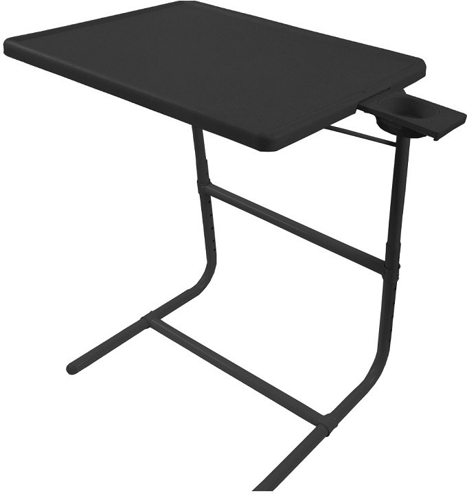 View Table Mate PLATINUM DOUBLE FOOT REST ADJUSTABLE FOLDING KIDS HOME OFFICE STUDY BLACK TABLEMATE WITH CUPHOLDER Plastic Portable Laptop Table(Finish Color - Black) Furniture (Tablemate)