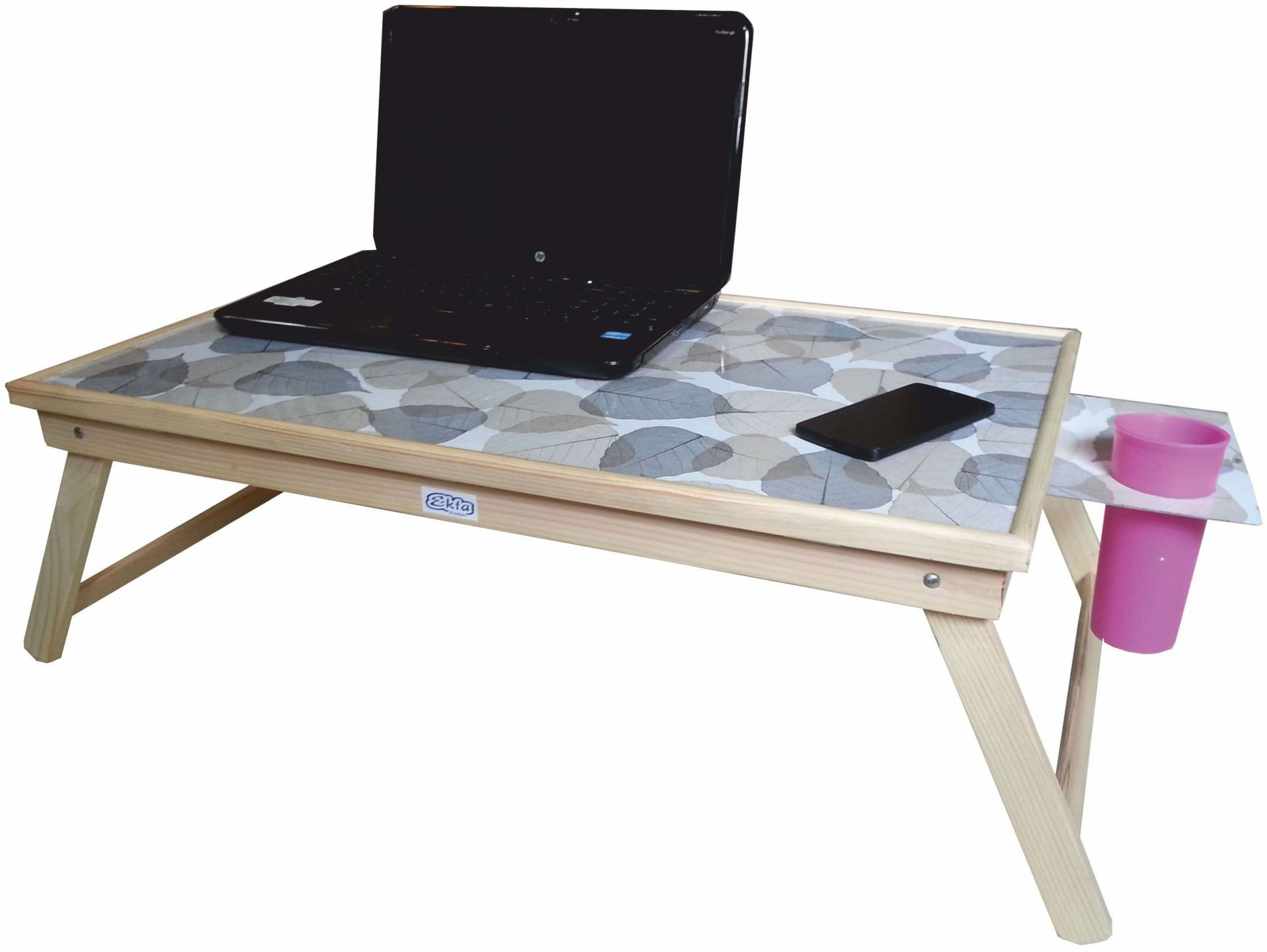 View Ekta Product Engineered Wood Portable Laptop Table(Finish Color - Light Oak) Furniture (Ekta Product)