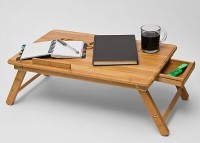 Elite Mkt Solid Wood Portable Laptop Table(Finish Color - Brown)