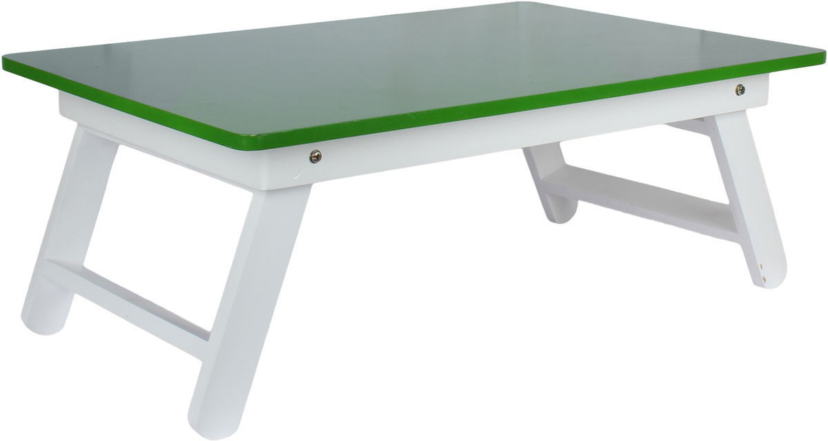 View Wood O Plast Engineered Wood Portable Laptop Table(Finish Color - Green) Furniture (Wood O Plast)