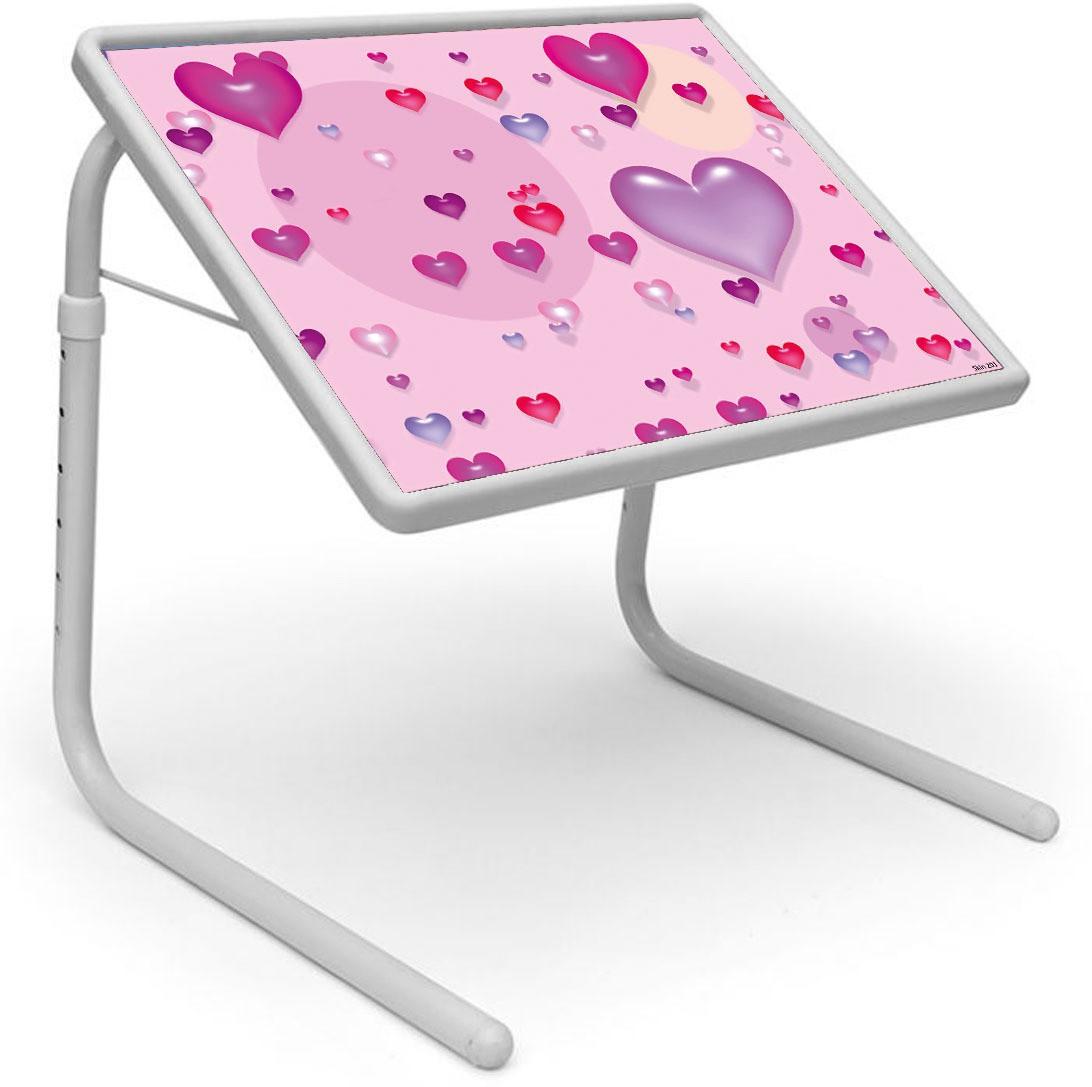 View Shopper 52 Plastic Portable Laptop Table(Finish Color - Pink) Furniture (Shopper52)