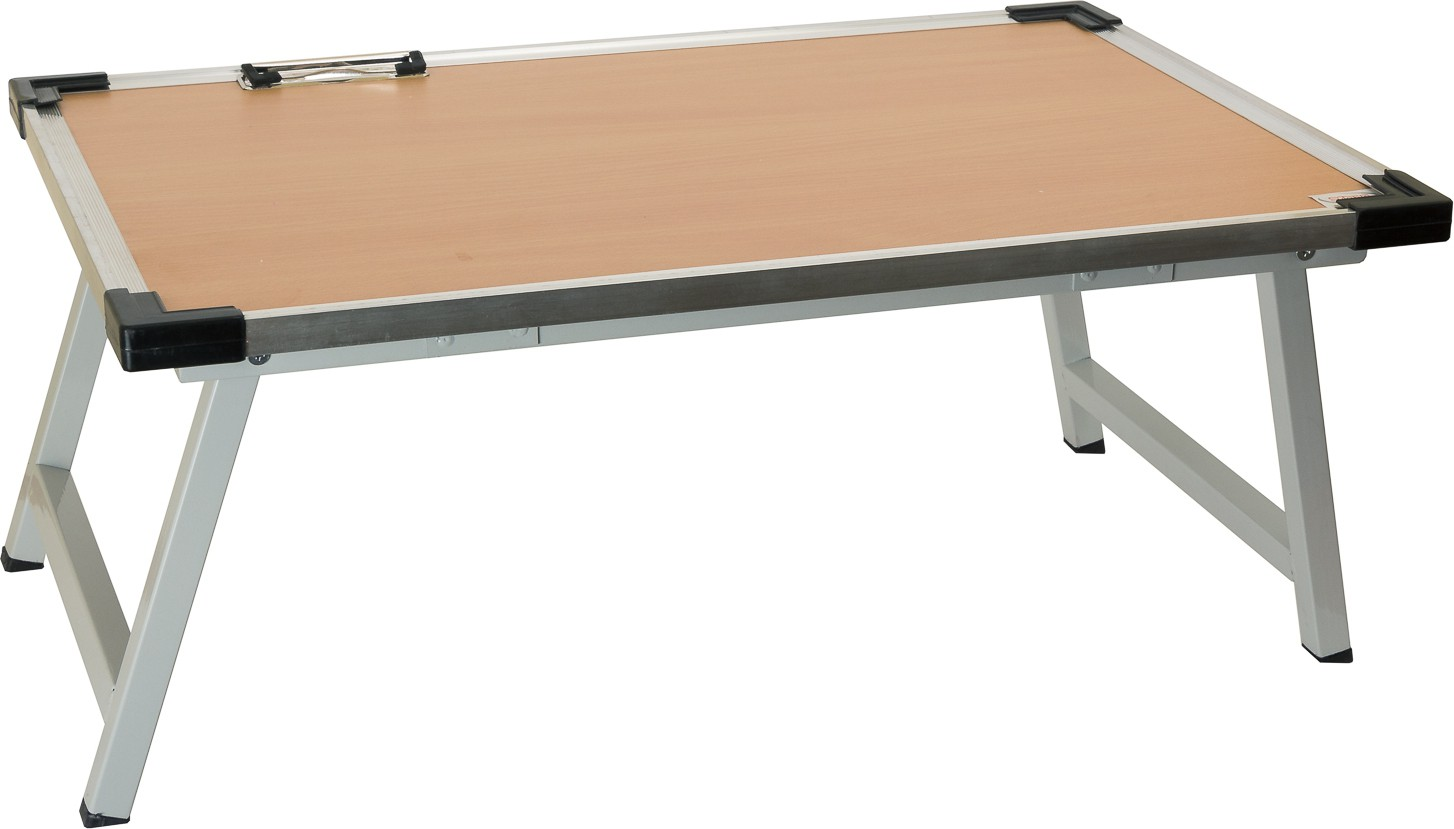 View SuTable Engineered Wood Portable Laptop Table(Finish Color - Beige) Furniture (SuTable)