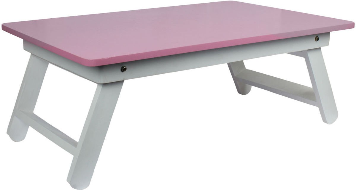 View Wood O Plast Engineered Wood Portable Laptop Table(Finish Color - Pink) Furniture (Wood O Plast)