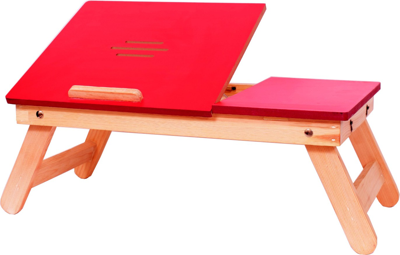 View Cart4Craft Matte finish multipurpose table Solid Wood Portable Laptop Table(Finish Color - Red) Furniture (Cart4Craft)