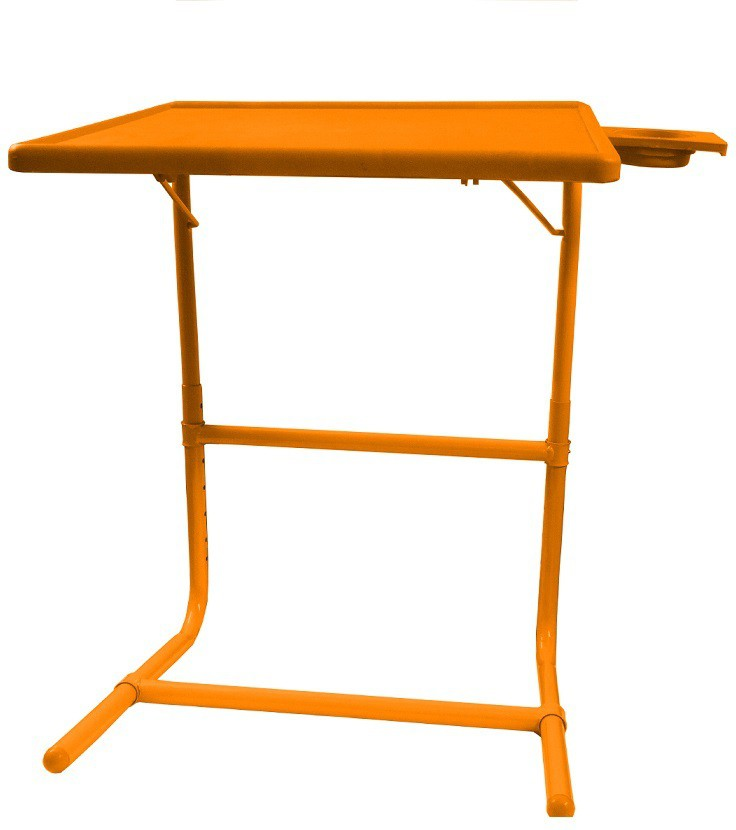 View Table Mate Orange Platinum Tablemate With Double Foot Rest Adjustable Folding Study Cupholder Kids Reading Breakfast Plastic Portable Laptop Table(Finish Color - Orange) Furniture (Tablemate)