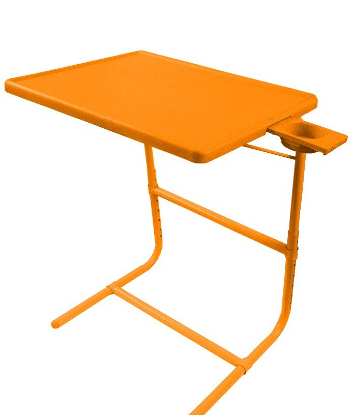 View Tablemate PLATINUM DOUBLE FOOT REST ADJUSTABLE FOLDING KIDS MATE HOME OFFICE READING WRITING ORANGE TABLEMATE WITH CUPHOLDER Plastic Portable Laptop Table(Finish Color - Orange) Furniture (Tablemate)
