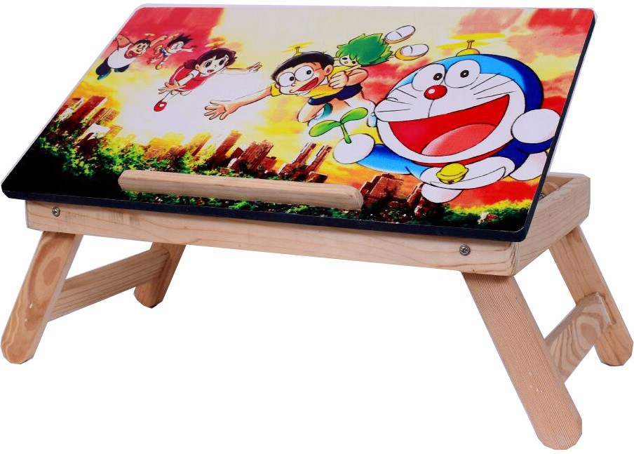 View Cart4Craft Cartoon Character laptop table /bed table/kids table/study table Solid Wood Portable Laptop Table(Finish Color - Multi color) Furniture (Cart4Craft)