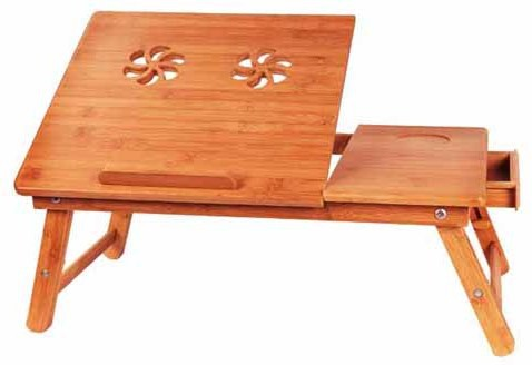 View Hi5bazar hi5lt003 Engineered Wood Portable Laptop Table(Finish Color - Brown) Furniture (Hi5bazar)