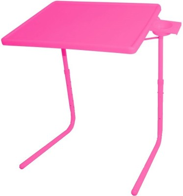 IBS ADJUSTABLE FOLDING KIDS MATE HOME OFFICE READING WRITING STUDY PINK TABLEMATE WITH CUPHOLDER Plastic Portable Laptop Table
